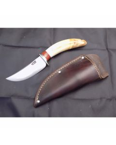 Behring hand Made Knives heavy caper model with 3.75 inch high carbon steel blade single hilt guard with hippo tooth ivory handle