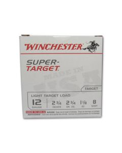 "Winchester Super Target 12 Gauge 2-3/4"" 1-1/8oz #8 Lead Shot 25 Rounds"