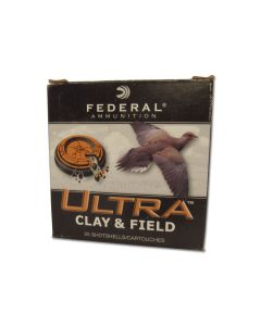 """Federal Ultra Clay 12 Gauge 2-3/4"""" 1-1/8oz #8 Shot 25 Rounds"""