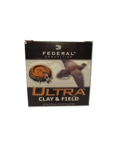 "Federal Ultra Clay & Field 12 Gauge 2-3/4"" 1-1/8""oz #8 Shot 25 Rounds"