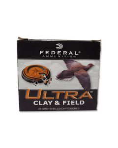 "Federal Ultra Clay & Field 12 Gauge 2-3/4"" 1-1/8oz #9 Shot 25 Rounds"