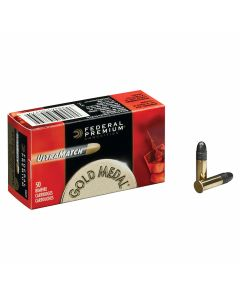 Federal Premium Gold Medal 22 LR 40 Grain Lead Round Nose 50 Rounds