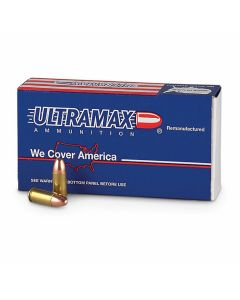 Ultramax Remanufactured 9mm Luger 125 Grain Full Metal Jacket 50 Rounds