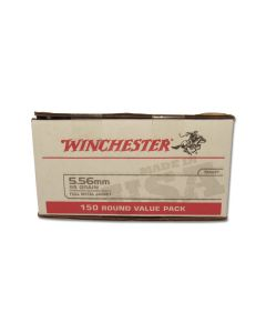 Winchester USA 5.56 Nato 55 Grain Full Metal Jacket 150 Rounds