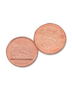 Santa Christmas 1oz Copper Round