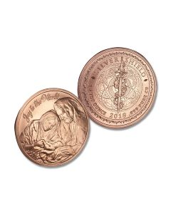 Nativity Christmas 1oz Copper Round