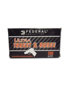Federal Ultra Target & Range 380 Auto 95 Grain Full Metal Jacket 50 Rounds