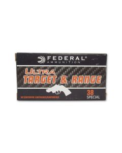 Federal Ultra Target & Range 38 Special 130 Grain Full Metal Jacket 50 Rounds