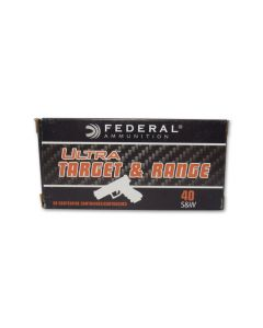 Federal Ultra Target & Range 40 S&W 180 Grain Full Metal Jacket 50 Rounds