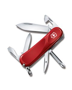 """Victorinox Swiss Army Evolution 11 3.375"""" with Red Composition Handle and Stainless Steel Blades and Tools Model 04408"""