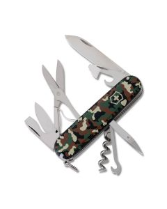 "Victorinox Swiss Army Climber 3.625"" with Camouflage Composition Handle and Stainless Steel Blades and Tools Model 1.3703.94US1"