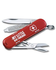 """Victorinox Classic SD 2.313"""" with My Little Big Toolbox Print Composition Handle and Stainless Steel Blade and Tools Model 3L1404"""