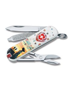 "Victorinox 2018 Contest Limited Edition Cappadocia Turkey Classic SD 2.25"" with Composition Handles and Stainless Steel Plain Edge Blades Model 0.6223.L1804"