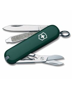 "Victorinox Swiss Army Classic SD 2.50"" with Hunter Green Composition Handle and Stainless Steel Blades and Tools Model 5023G"