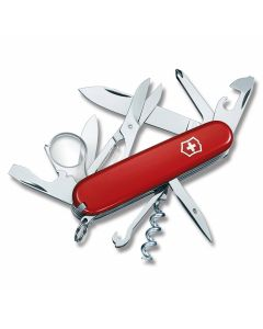 """Victorinox Swiss Army Explorer 3.625"""" with Red Composition Handle and Stainless Steel Blades and Tools Model 5030R"""