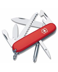 "Victorinox Swiss Army Hiker 3.50"" with Red Composition Handle and Stainless Steel Blades and Tools Model 53831"