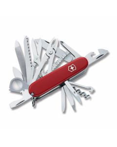 "Victorinox SwissChamp 3.625"" with Red Composition Handle and Stainless Steel Blades and Tools Model 5069R"