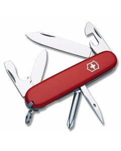 """Victorinox Swiss Army Tinker 3.625"""" with Red Composition Handle and Stainless Steel Blades and Tools Model 5072R"""