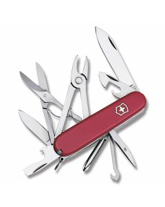 "Victorinox Swiss Army Deluxe Tinker 3.625"" with Red Composition Handle and Stainless Steel Blades and Tools Model 5079R"