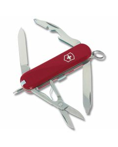 "Victorinox Swiss Army Manager 2.313"" with Red Composition Handle and Stainless Steel Blades and Tools Model 53034"