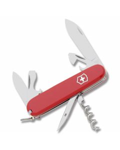 "Victorinox Swiss Army Tourist 3.313"" with Red Composition Handle and Stainless Steel Blades and Tools Model 53131"