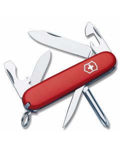 "Victorinox Swiss Army Small Tinker 3.313"" with Red Composition Handle and Stainless Steel Blades and Tools Model 53133"