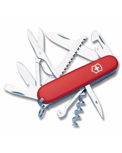 """Victorinox Swiss Army Huntsman 3.625"""" with Red Composition Handle and Stainless Steel Blades and Tools Model 53201"""