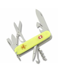 "Victorinox Swiss Army Boy Scouts of America StayGlow Climber 3.625"" with StayGlow Composition Handle and Stainless Steel Blades and Tools Model 53389"