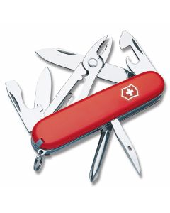 "Victorinox Swiss Army Mechanic 3.50"" with Red Composition Handle and Stainless Steel Blades and Tools Model 53441"