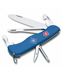 "Victorinox Swiss Army Helmsman 4.375"" with Blue Composition Handle and Stainless Steel Blades and Tools Model 53664"