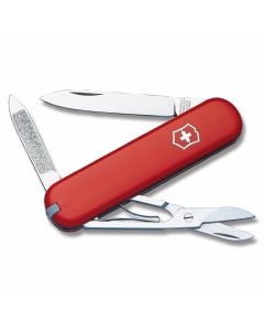 "Victorinox Swiss Army  Ambassador 2.938"" with Red Composition Handle and Stainless Steel Blades and Tools Model 53681"