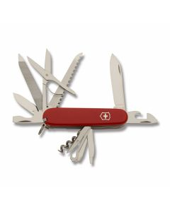 "Victorinox Swiss Army Ranger 3.625"" with Red Composition Handle and Stainless Steel Blades and Tools Model 53861"