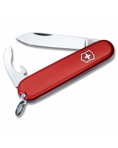 "Victorinox Swiss Army Bantam 3.313"" with Red Composition Handle and Stainless Steel Blades and Tools Model 53941"