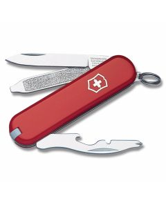 "Victorinox Swiss Army Rally 2.313"" with Red Composition Handle and Stainless Steel Blades and Tools Model 54021"