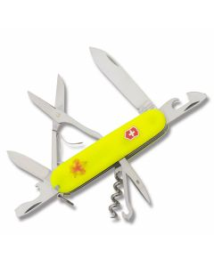 "Victorinox Swiss Army BSA Climber 3.625"" with Stay Glow Composition Handle and Stainless Steel Blades and Tools Model 54389"