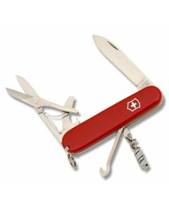 """Victorinox Swiss Army Compact 3.625"""" with Red Composition Handle and Stainless Steel Blades and Tools Model 54941"""