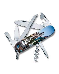 """Victorinox Swiss Army Acadia Camper 3.625""""  with Composition Handles and Stainless Steel Plain Edge Blades Model 55355"""
