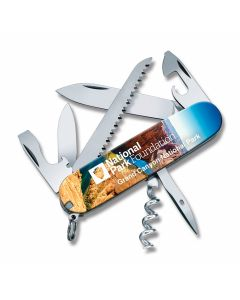 "Victorinox Swiss Army Grand Canyon Camper 3.625"" with Composition Handles and Stainless Steel Plain Edge Blades Model 55357"