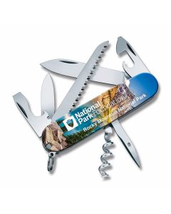 """Victorinox Swiss Army Rocky Mountain Camper 3.625"""" with Composition Handles and Stainless Steel Plain Edge Blades Model 55360"""