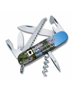 """Victorinox Swiss Army Glacier Camper 2.25"""" with Composition Handles and Stainless Steel Plain Edge Blades Model 55363"""