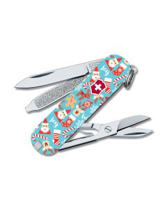 "Victorinox Swiss Army Classic SD Christmas Special Edition 2.25"" with Composition Handle and Stainless Steel Blade Model 55455"