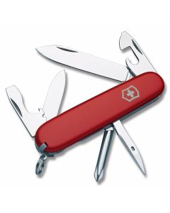 "Victorinox Swiss Army Tinker 3.625"" with Red Composition Handle and Stainless Steel Blades and Tools Model 56101"