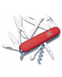 "Victorinox Swiss Army Huntsman 3.625"" with Red Composition Handle and Stainless Steel Blades and Tools Model 56201"
