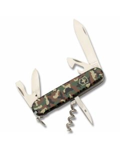 "Victorinox Swiss Army Spartan Camo 3.625"" with Camo Composition Handle and Stainless Steel Blades and Tools Model 56353"