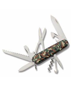 "Victorinox Swiss Army  Huntsman 3.625"" with Camo Composition Handle and Stainless Steel Blades and Tools Model 56500"