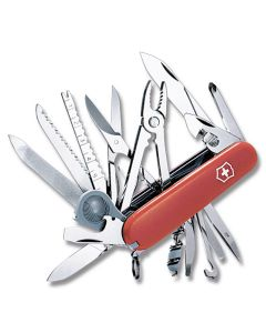 """Victorinox SwissChamp 3.625"""" with Red Composition Handle and Stainless Steel Blades and Tools Model 56501"""