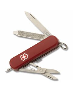 "Victorinox Signature Lite 2.313"" with Red Composition Handle and Stainless Steel Blades and Tools Model 57186"