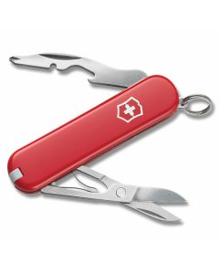 "Victorinox Swiss Army Jetsetter 2.50"" with Red Composition Handle and Stainless Steel Tools Model 58128"