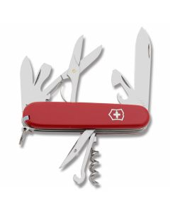 "Victorinox Climber 3.625"" with Red Composition Handle and Stainless Steel Blades and Tools Model 53641"