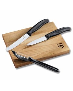 Victorinox Prep Set with Black Synthetic Handle and Stainless Steel Blades Model 6.7603.3US1